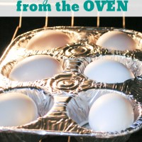 Easy Easter Eggs from the Oven + Muffin Tin Egg Dying