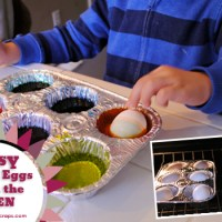 Easy Easter Eggs from the Oven