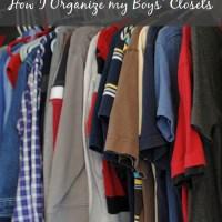 Organizing Kids Closets | How I Organize my Boys' Closets