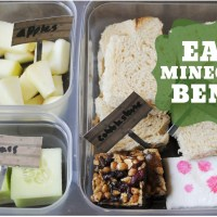 Minecraft Bento with goodnessknows Snack Squares