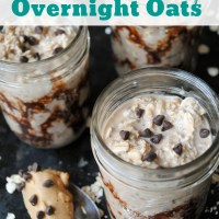 Chocolate Peanut Butter Cup Overnight Oats with Video