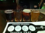 Green Dragon Beer Samper
