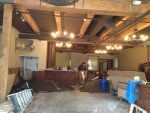 Inside Kell's Brew Pub under construction