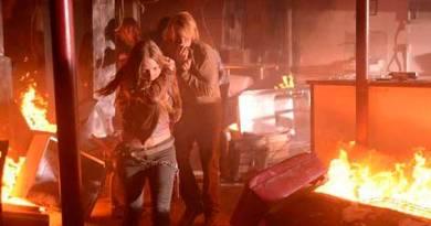 Tracy Spiridakos as Charlie Matheson, Graham Rogers as Danny Matheson. Credit: Brownie Harris/NBC