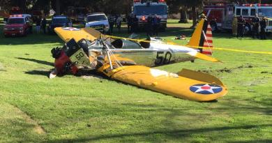 Harrison Ford was injured when his plane went down. (photo: Andrew Siciliano via Twitter)
