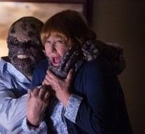 """GRIMM -- """"Clear and Wesen Danger"""" Episode 502-- Pictured: (l-r) Paul Wemlinger as Quijada Vil, Susan Ruttan as Betty Frame -- (Photo by: Scott Green/NBC)"""