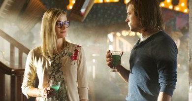 """THE MAGICIANS -- """"Consequences of Advanced Spellcasting"""" Episode 103 -- Pictured: (l-r) Olivia Taylor Dudley as Alice, Jason Ralph as Quentin -- (Photo by: Carole Segal/Syfy)"""