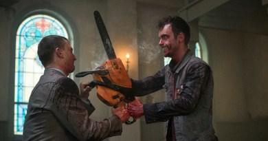 Joseph Gilgun as Cassidy, Tom Brooke as Fiore - Preacher _ Season 1, Episode 1 - Photo Credit: Lewis Jacobs/Sony PIctures Televsion/AMC