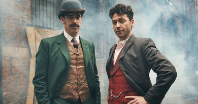 """HOUDINI & DOYLE: L-R: Stephen Mangan and Michael Weston in the """"A Dish of Adharma"""" episode of HOUDINI & DOYLE airing Saturday, May 14 (8:00-9:00 PM ET/PT) on FOX.  Cr:  FOX. © 2016 FOX Broadcasting Co."""