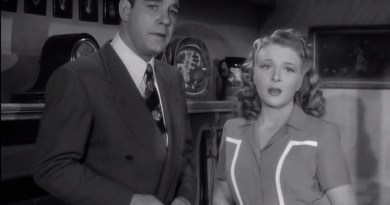 Lon Chaney Jr. as Larry/ the Wolf Man and Evelyn Ankers as Gwen Conliffe. [Courtesy Universal Pictures.]