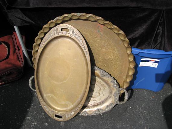 antique bronze trays