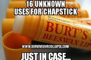 16 unknown uses for chapstick (just in case)