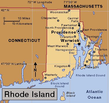 Cities Of Rhode Island Colony