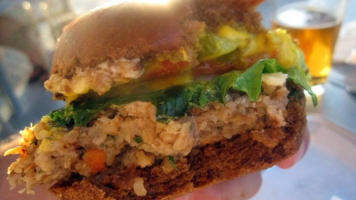 Veggie Burger, Rice, Burger