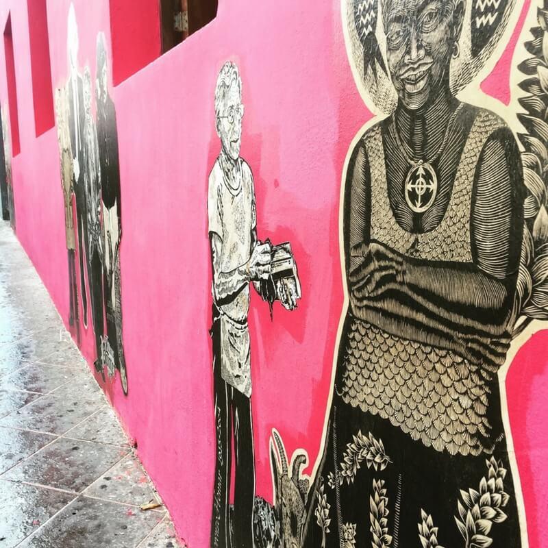 Puerto Rico, Old San Juan, Street Art, Mural, Painting