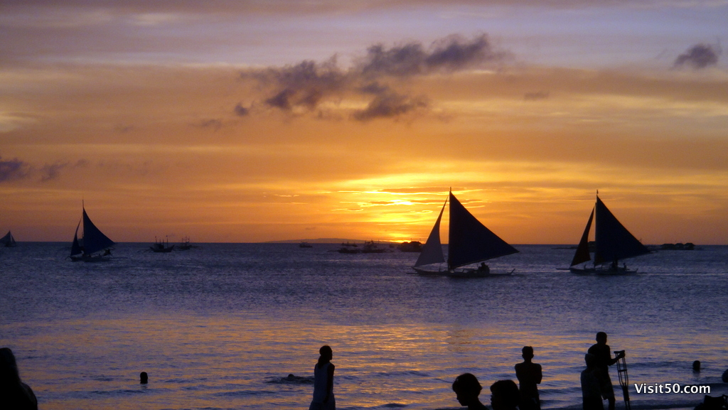 Sunset in Boracay, Philippines, in March 2011