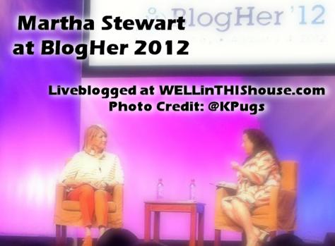 Martha Stewart at BlogHer 2012
