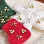 羊毛フェルト横浜教室【北欧風クリスマスオーナメント】