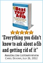 Beat Your A-Fib book on Amazon.com Top 100 Best Seller in Heart Disease