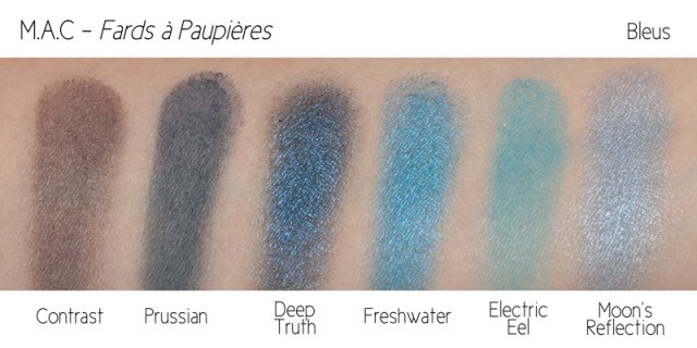 swatches M.A.C Eyeshadows M.A.C