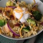 Bacon, Broccoli, Chicken & Rice