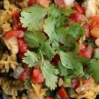 One-Skillet Chicken Burrito Bowls