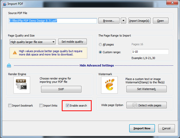 Make Searchable FlipBook from PDF A-PDF