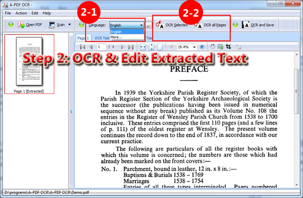 Can I scan paper document and extract text from it with A-PDF OCR