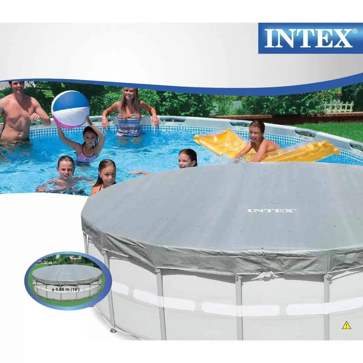 Capa De Piscina Intex Capa Piscina Intex 16 4 88 M 488 Cm 19154 19156 L 28040