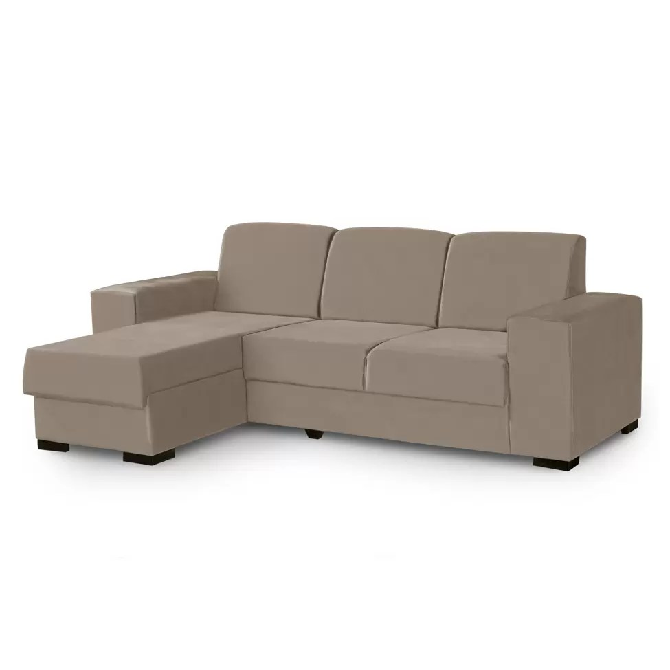 Mobly Sofa Chaise Sofá 3 Lugares Com Chaise Astro Suede Bege Mobly Sofá 3