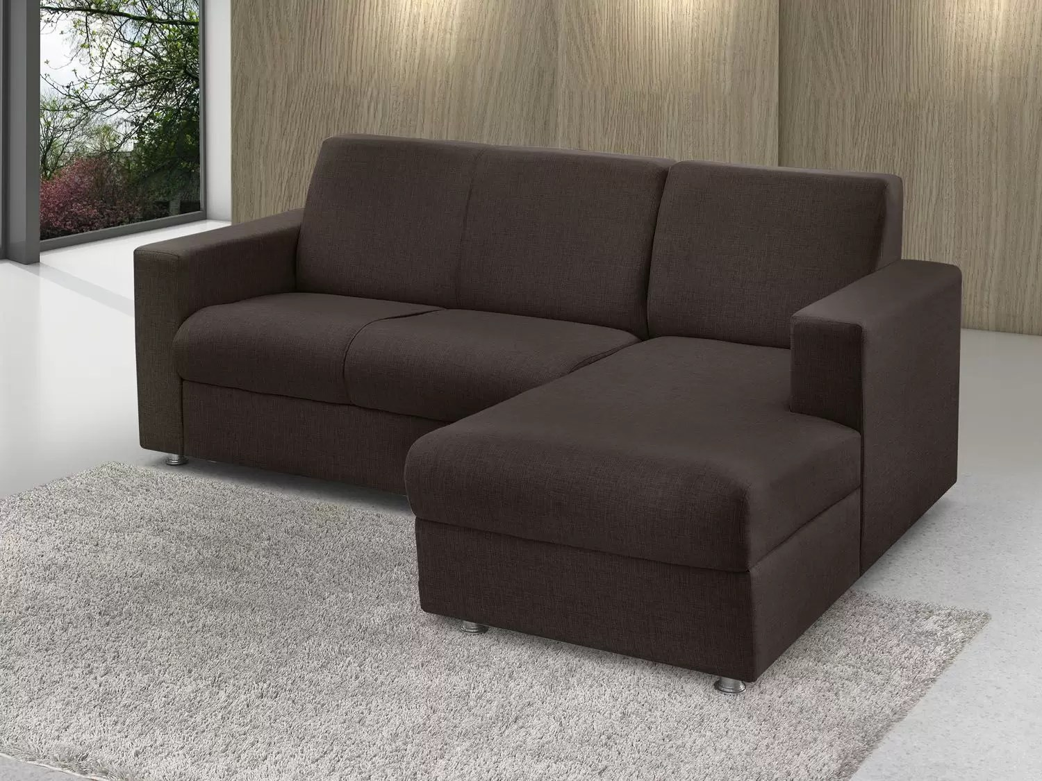 Sofa Moderno 2 Lugares Sofá Chaise 2 Lugares Chenille Roma American Comfort