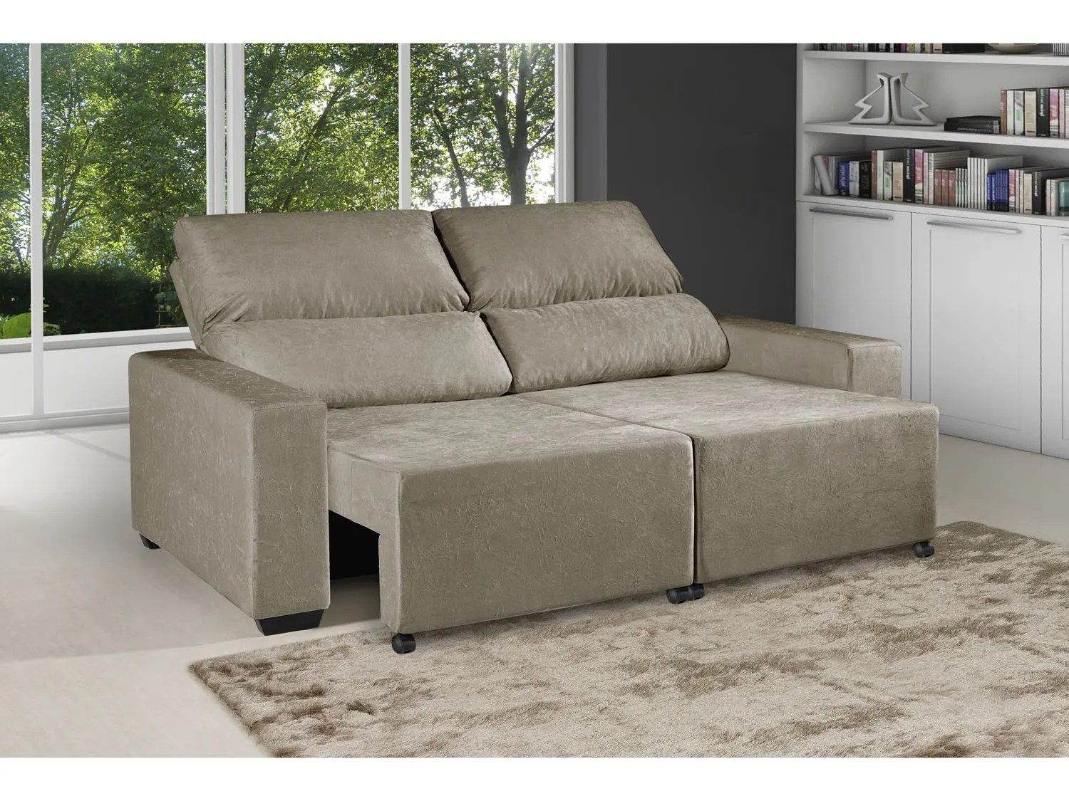 Sofa Retratil E Reclinavel Impermeavel Sofá Retrátil Reclinável 3 Lugares Suede Elegance