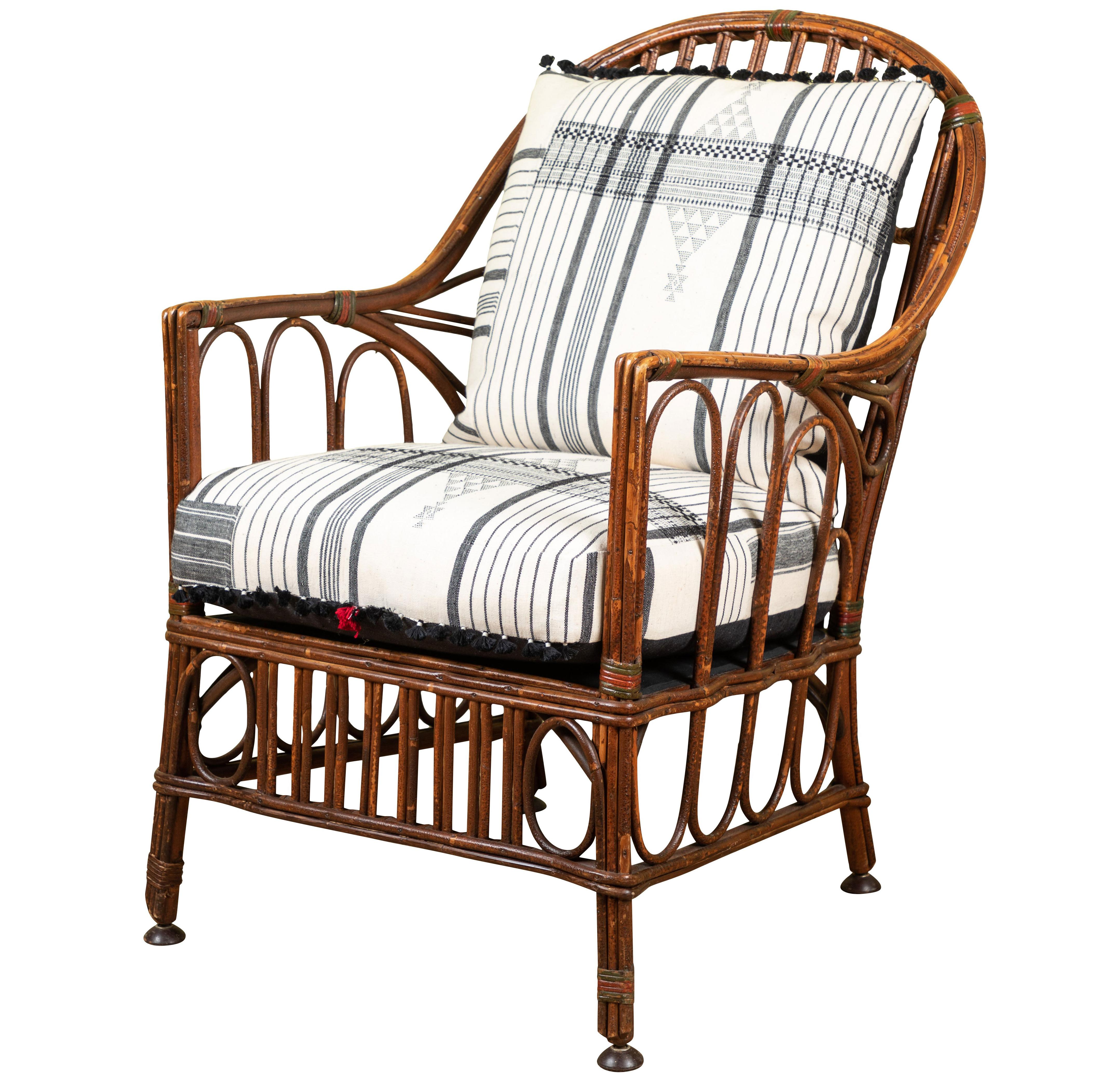 Wood Rocking Chair 1920s Bent Wood Rocking Chair With Injiri Upholstery