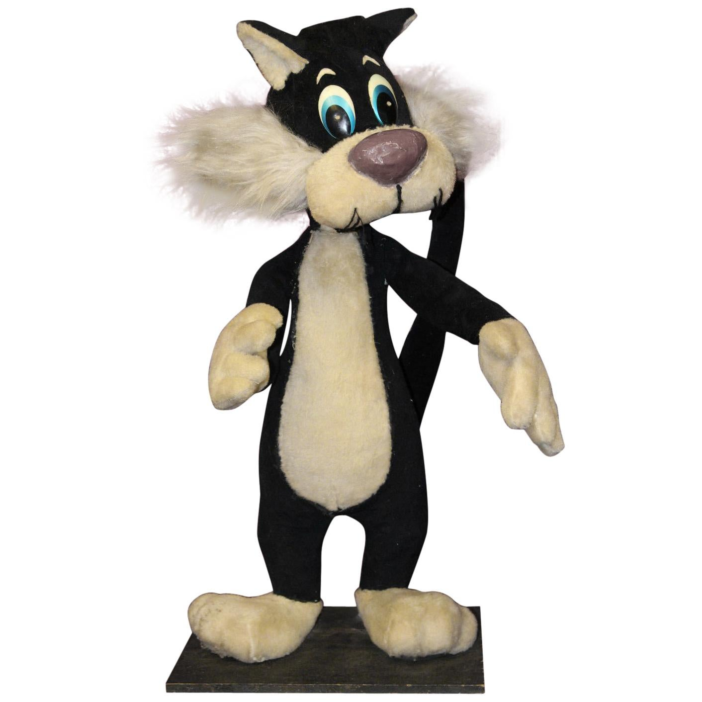 Cat Plush Toy 1940s Sylvester The Cat Mechanical Plush Toy Window Advertising