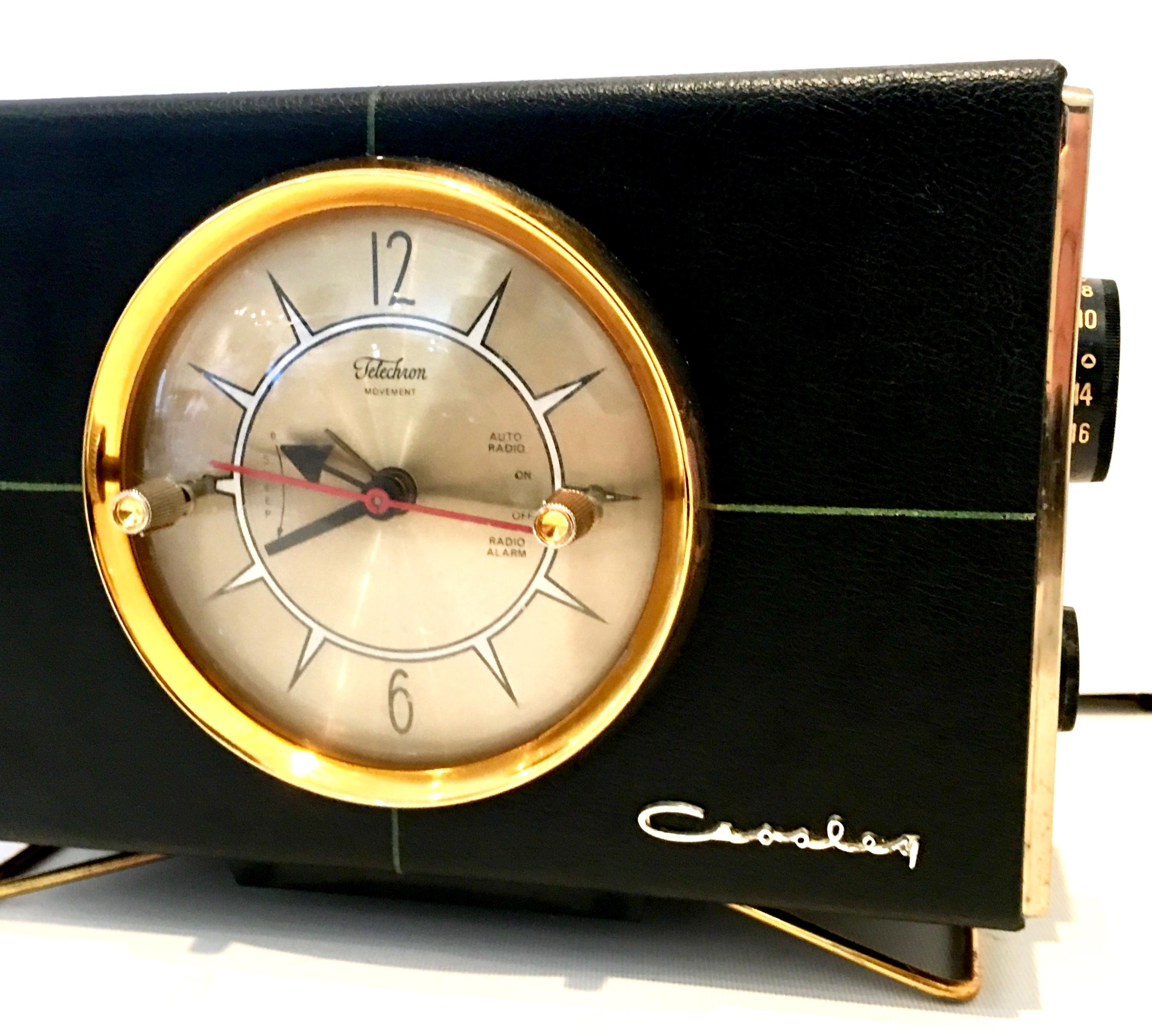 Crosley Radio 1950s Mid Century Modern Electronic Alarm Clock And Radio By Crosley