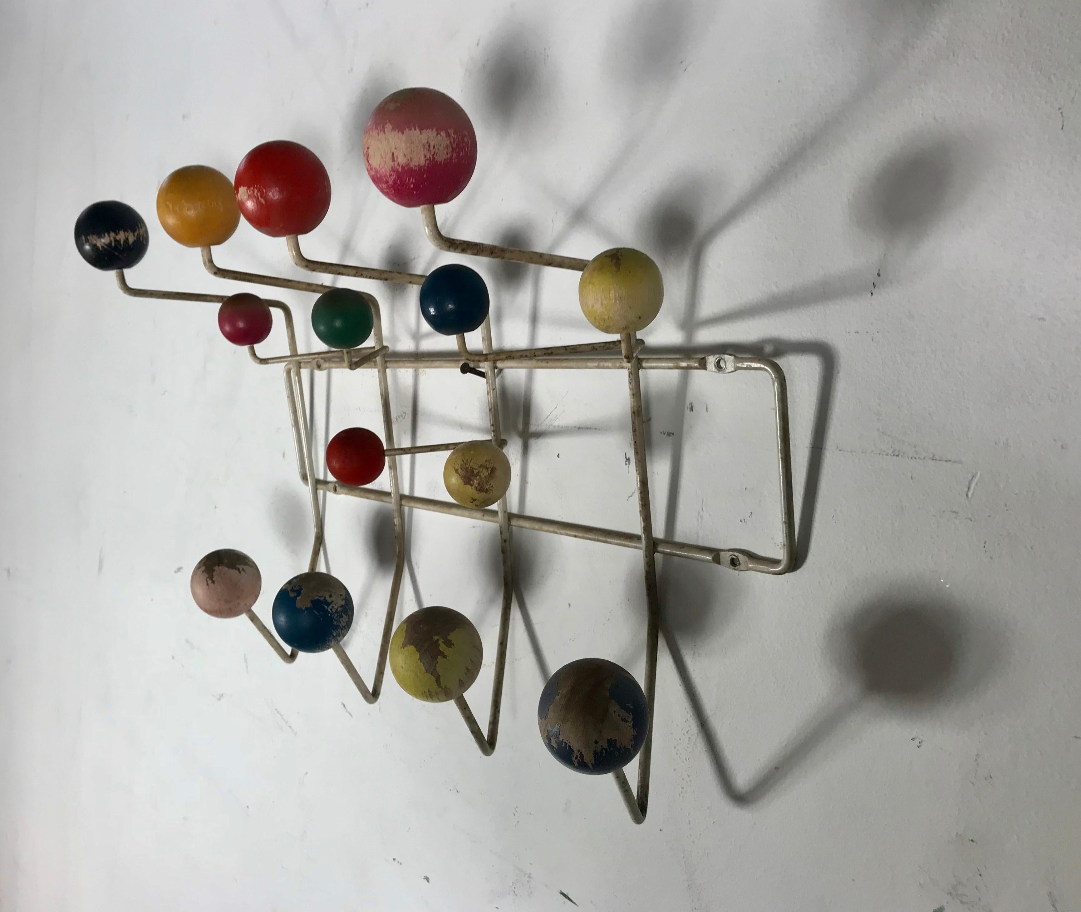 1950s Original Eames Hang It All Coat Rack Charles And Ray Eames For Tigrett At 1stdibs