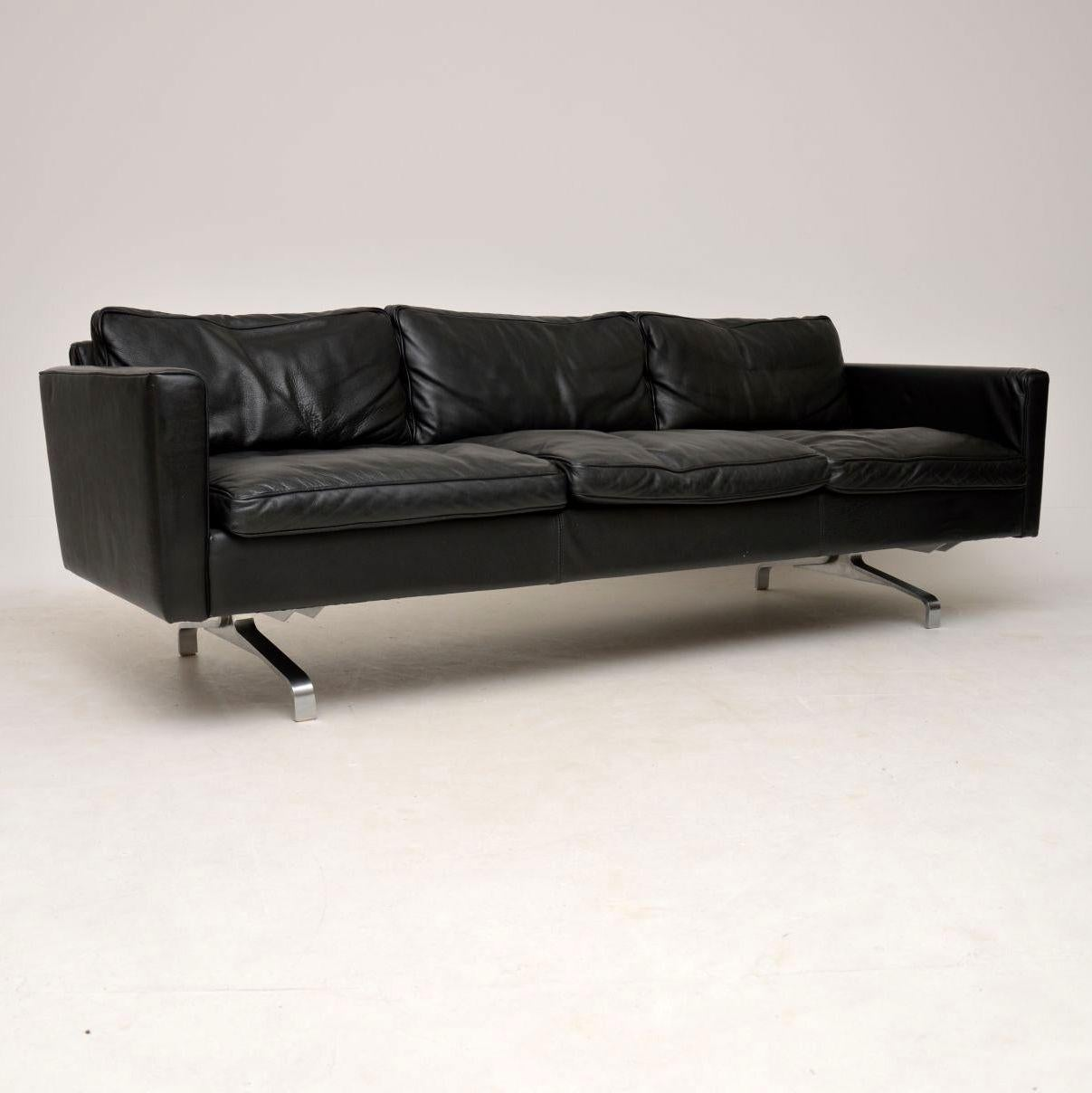 Sofas Retro 1970s Vintage Pair Of Danish Leather And Steel Sofas