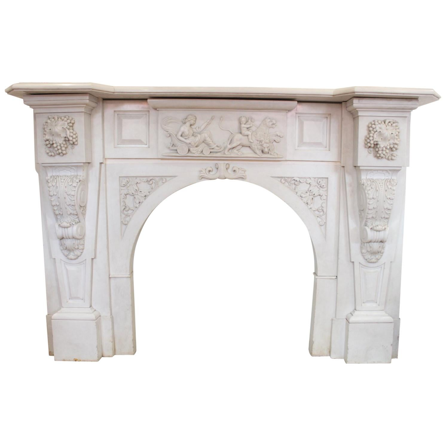 Fireplace Mantel Parts Carrara Marble Fireplace Mantel