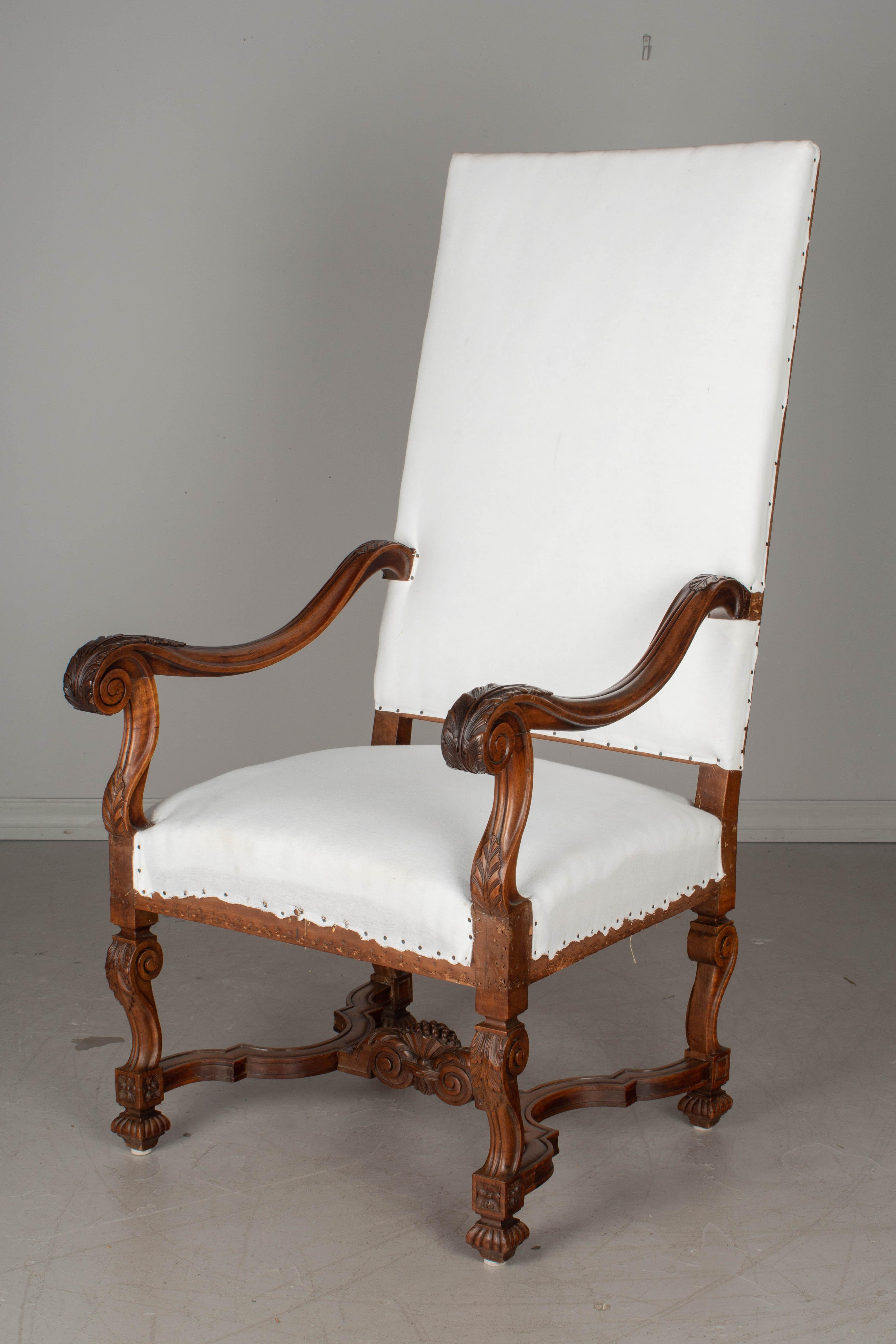 19th Century Louis Xiii Style Fauteuil Or Armchair For Sale At 1stdibs