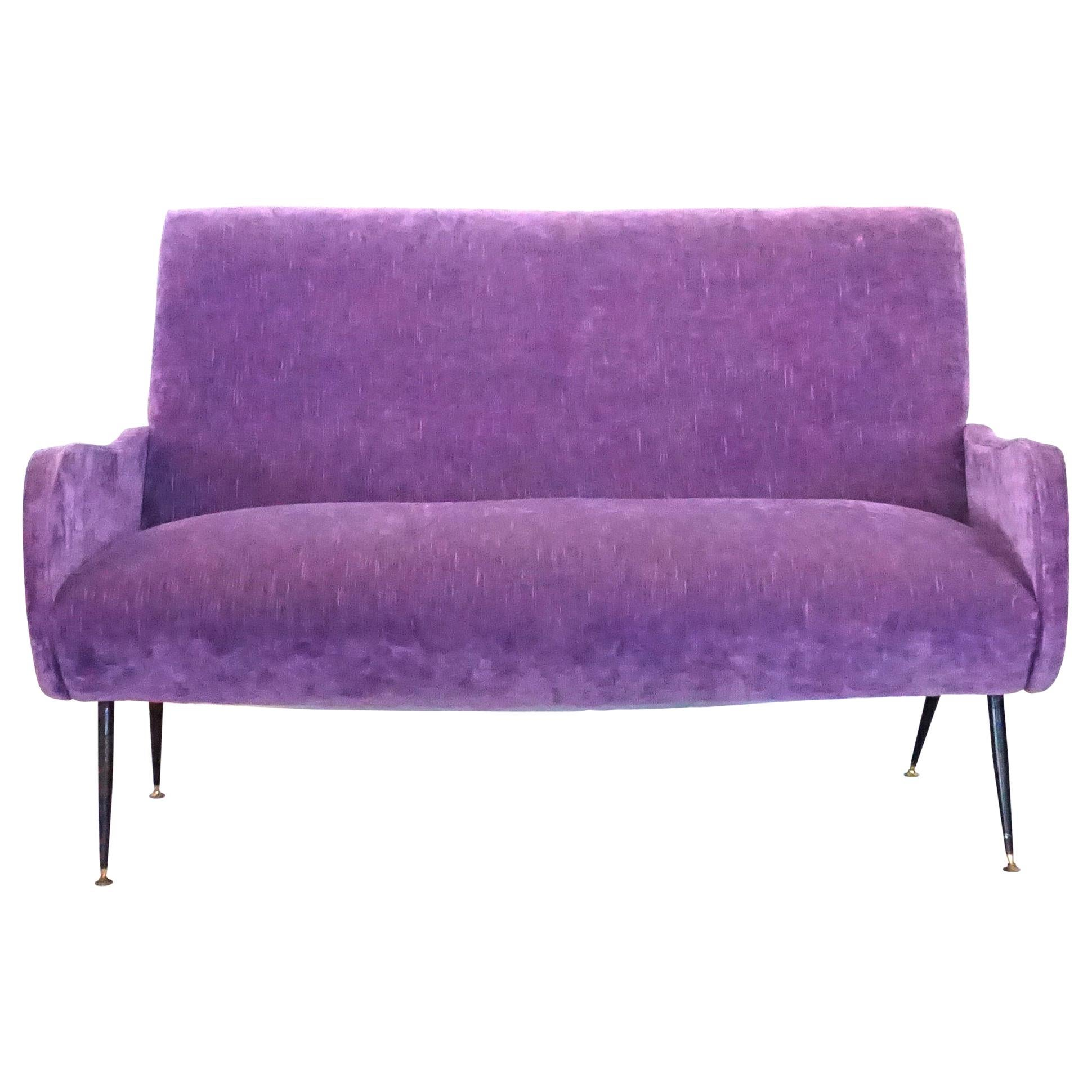 20th Century Lila Italian Small Two-Seat Sofa by Marco Zanuso For Sale at 1stDibs