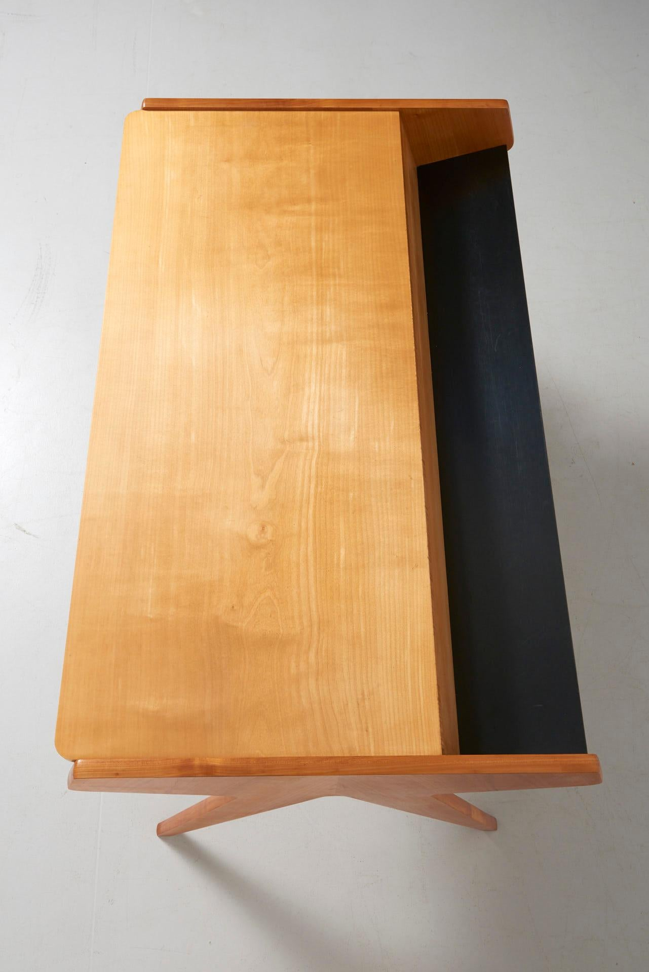 Möbel Yellow Desk In Ash With 2 Black Drawers By Helmut Magg For Wk Möbel 1955