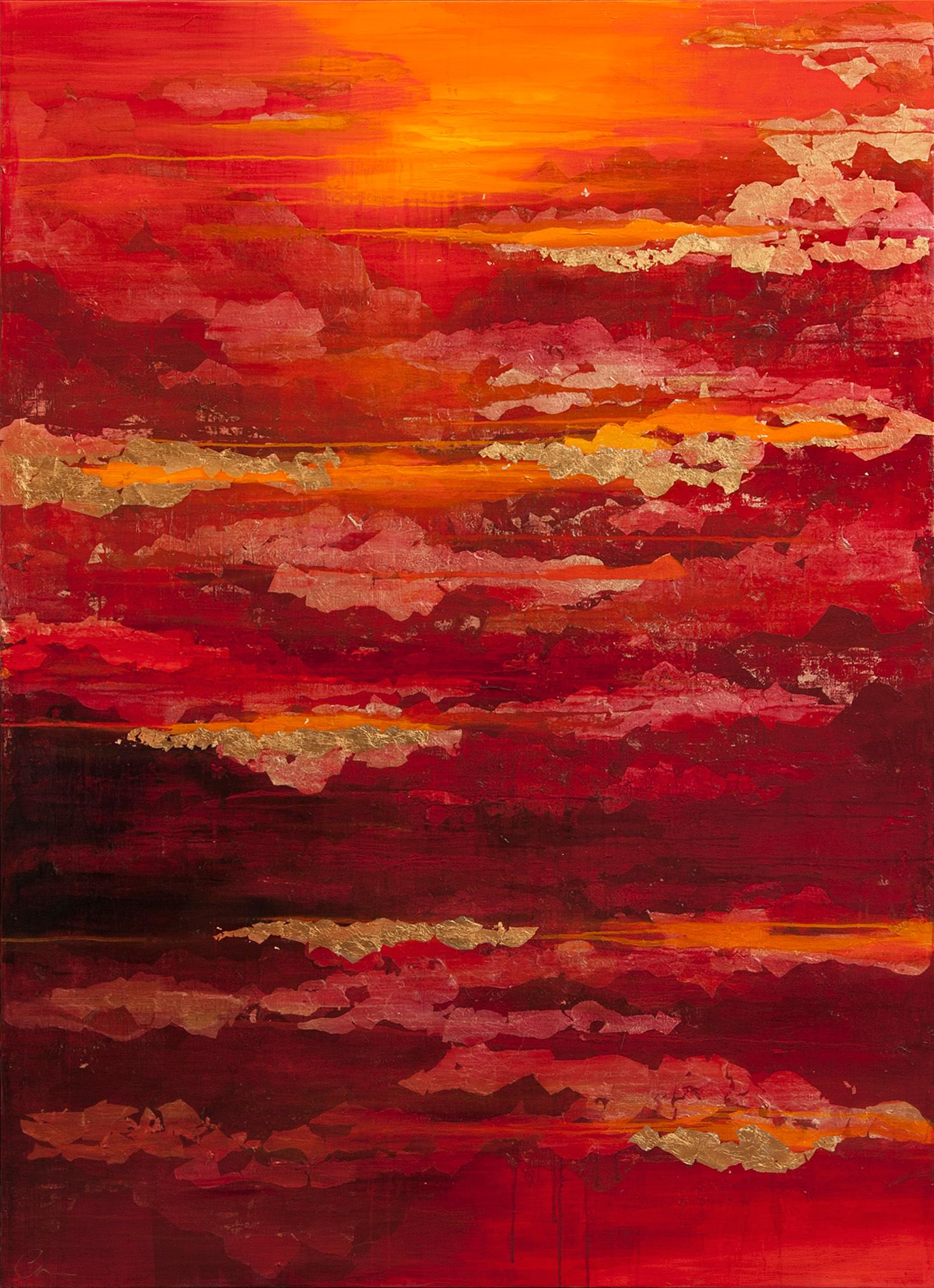 Contemporary Abstract Painting Chelsea Davine Fading Light 21st Century Contemporary Abstract Painting Mixed Media Canvas