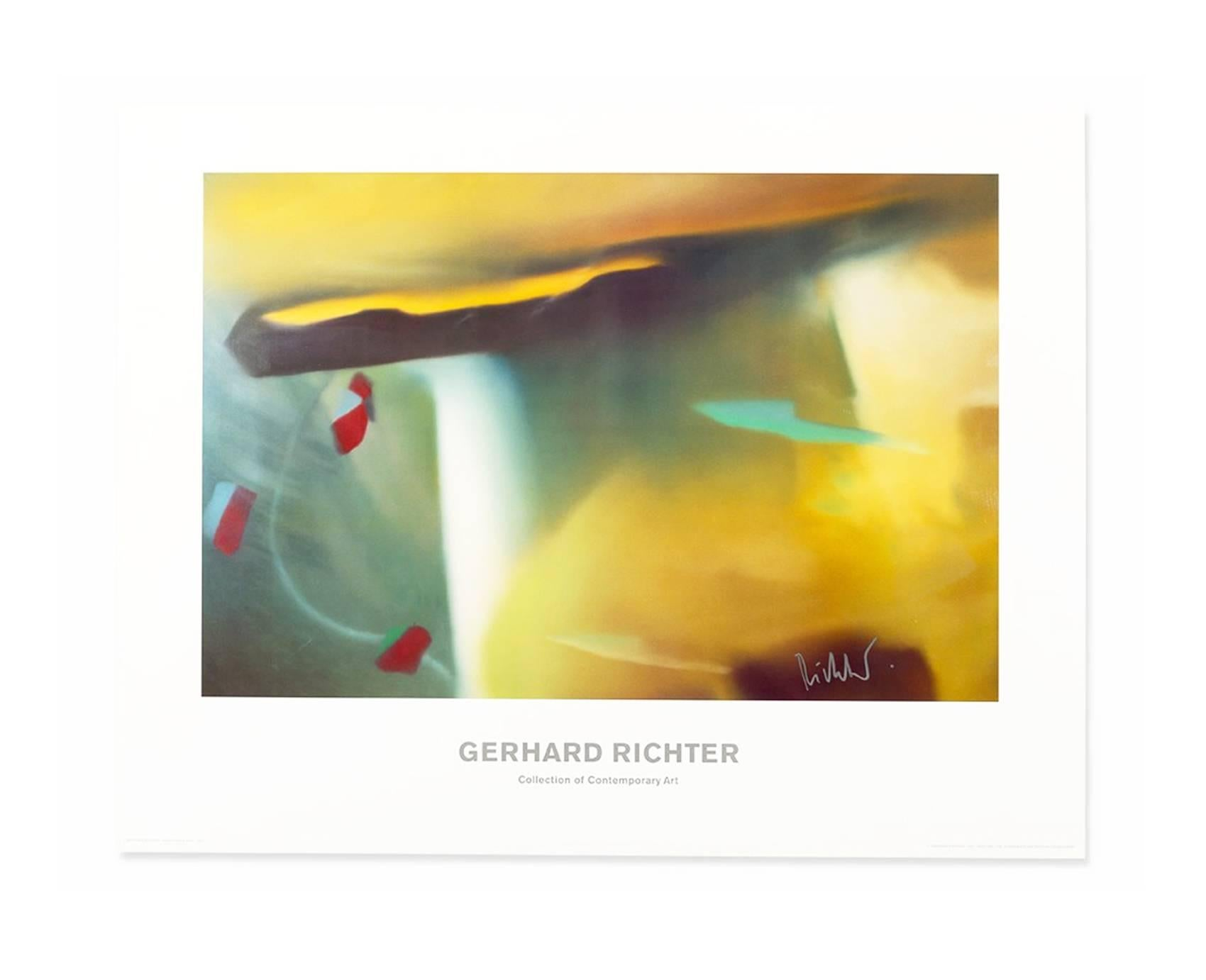 After Gerhard Richter Abstraktes Bild 1991 Hand Signed Poster Abstract Art Contemporary Artist For Sale At 1stdibs