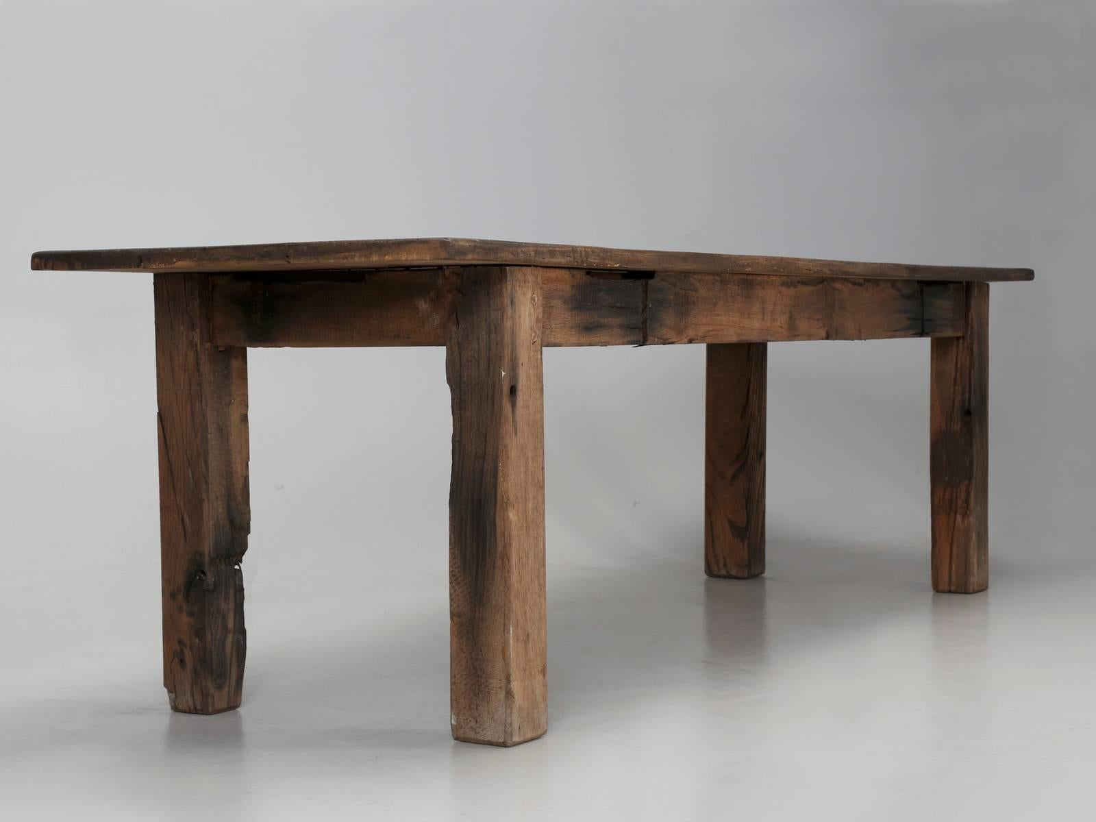 Antique French Industrial Work Table Or Rustic Farm Dining