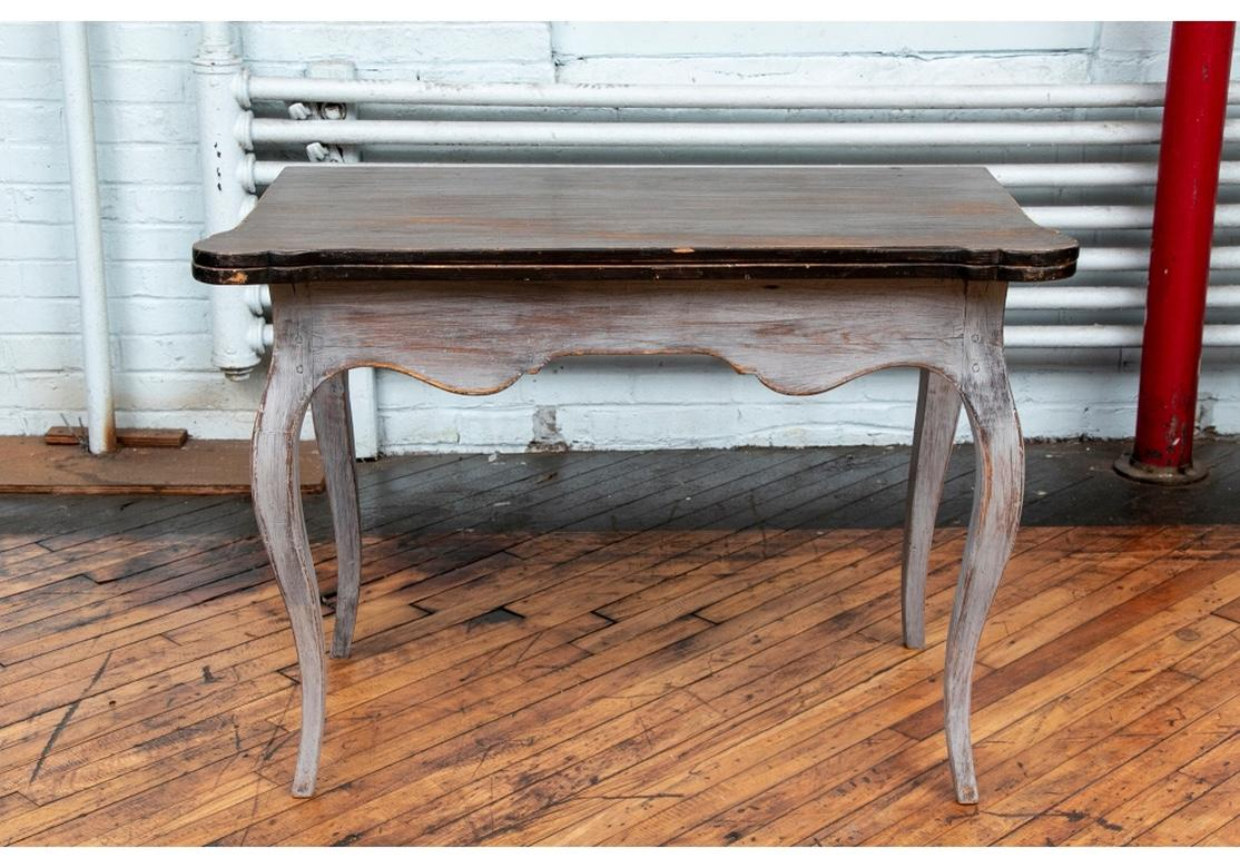 Antique French Paint Decorated Flip Console Table For Sale At 1stdibs