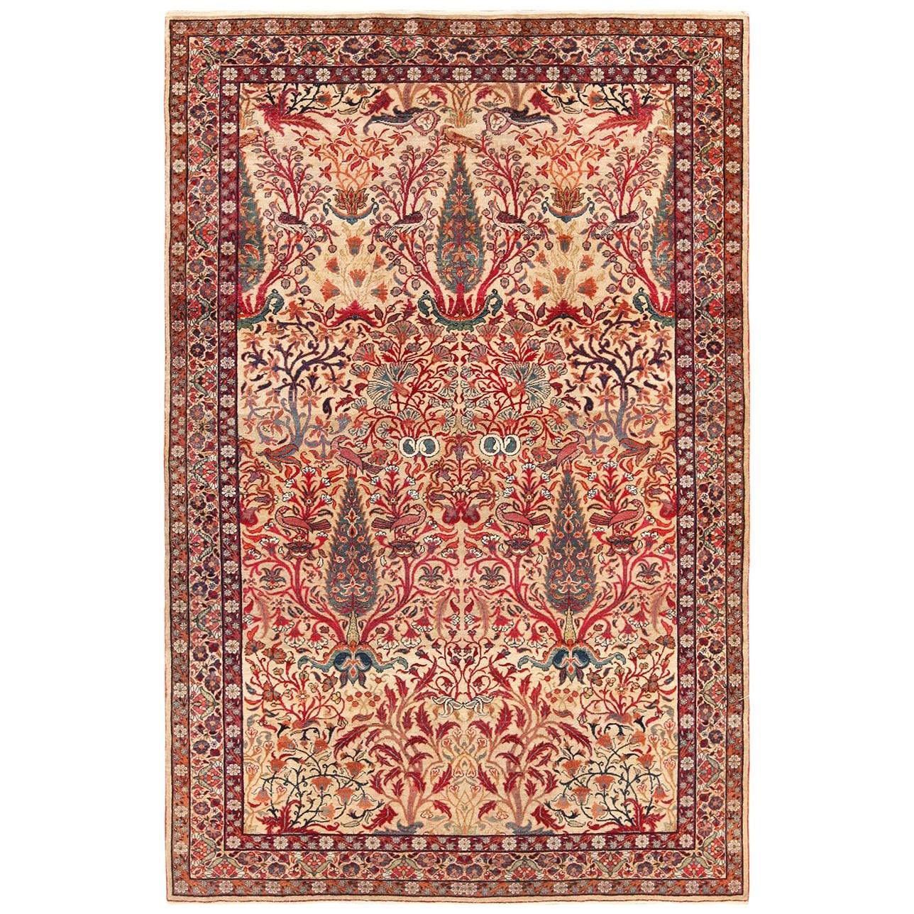 Fine Antique Persian Kerman Rug Size 4 Ft 1 In X 6 Ft 3 In 1 24 M X 1 9 M For Sale At 1stdibs