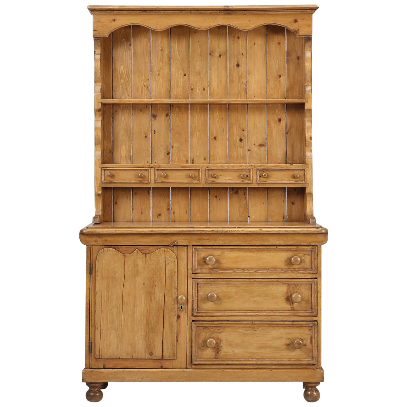 Antique Pine Hutch Dresser Or Cabinet At 1stdibs