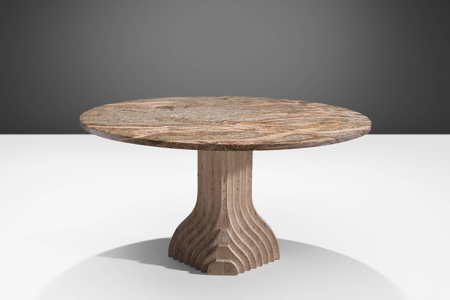 Architectural Centre Table In Travertine For Sale At 1stdibs