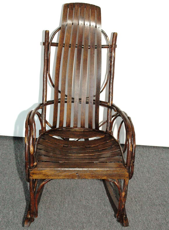 S 43 Thonet 1920-1930 Amish Bentwood Rocking Chair From Pennsylvania