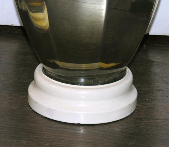Pair of 1930's Mercury Glass Ginger Jar Shaped Lamps at